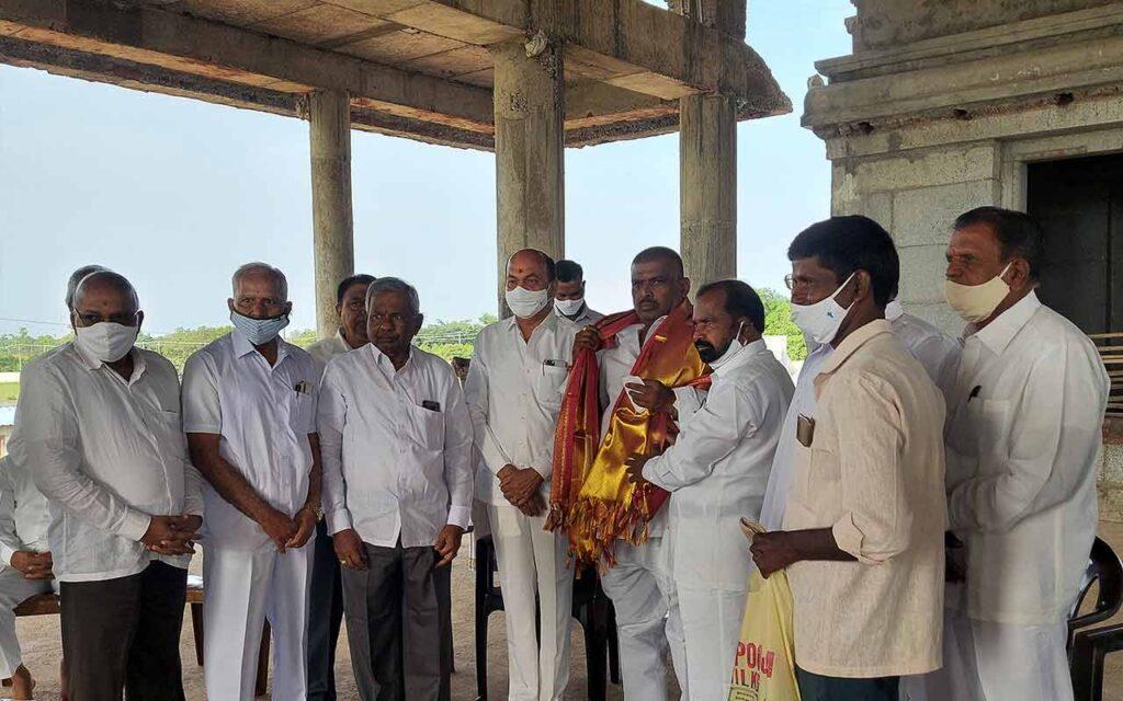 TRS MLA: ఎమ్మెల్యే మహిపాల్ రెడ్డి చెర్యాల అతి పురాతనమైన ఆలయానికి విరాళం